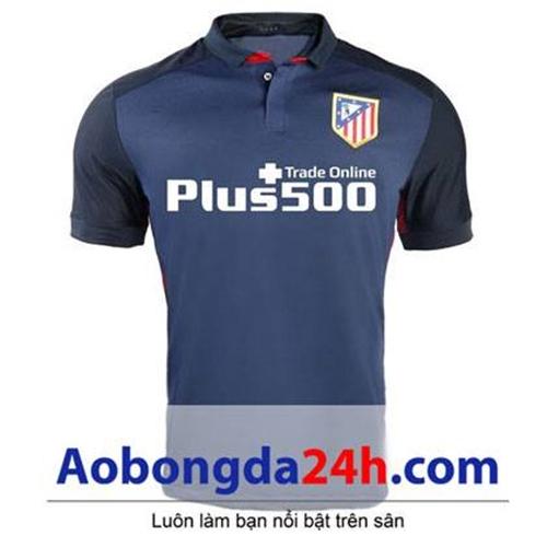 Áo đấu Atletico Madrid 2015-2016 sân khách màu xanh đen
