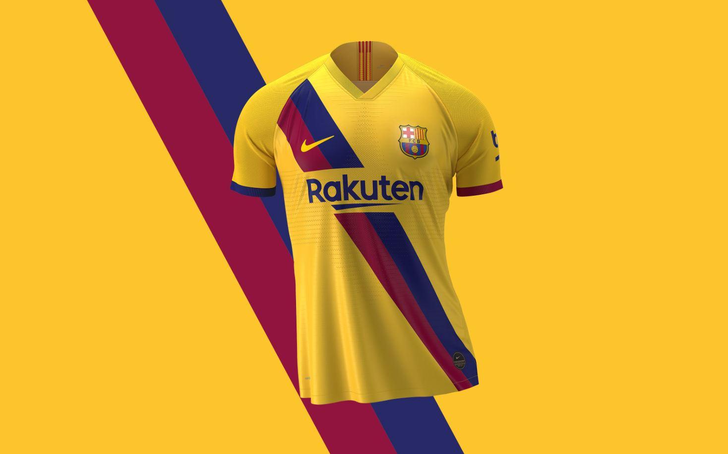 Áo đấu Barca 2019 - 2020 sân khách màu vàng