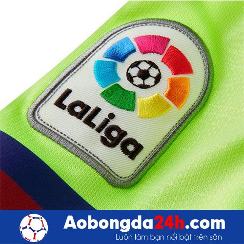 Áo Barca 2018-2019 sân khách màu xanh nõn chuối-giải laliga