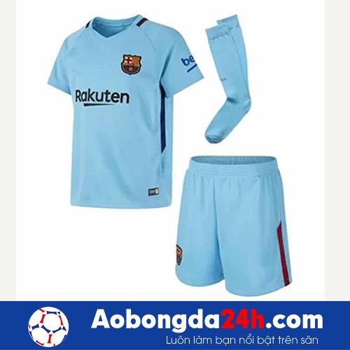 Áo Barcelona màu xanh ngọc 2017-2018 sân khách-bộ quần áo