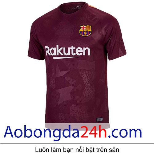 Áo Barcelona 2017-2018 mẫu thứ 3 màu hồng