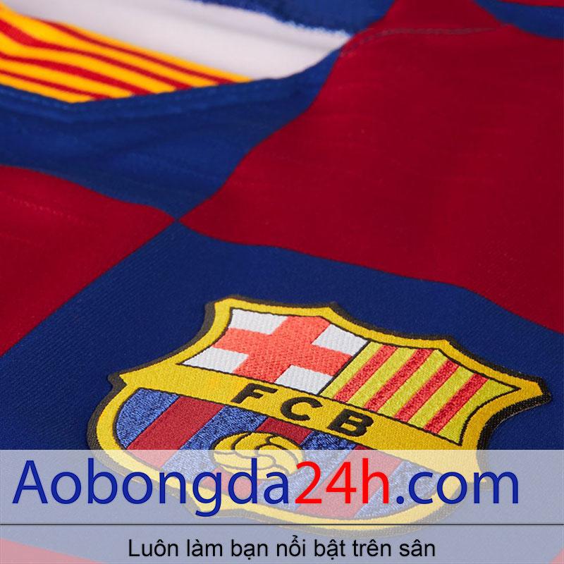 Áo Barca 2019 - 2020 sân nhà màu xanh xọc đỏ