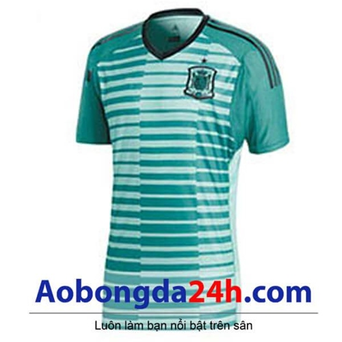 Áo thủ môn Tây Ban Nha 2018 - 2019 xanh ngọc