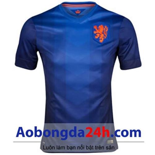 Áo đấu Hà Lan 2014 - 2015 sân khách màu xanh