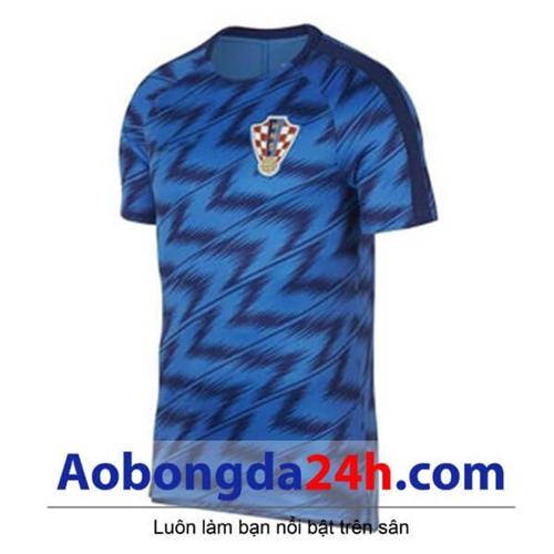 Áo đội tuyển Croatia Xanh mẫu mới 2018 - 2019