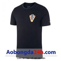 Áo bóng đá Croatia Đen mẫu mới 2018 - 2019