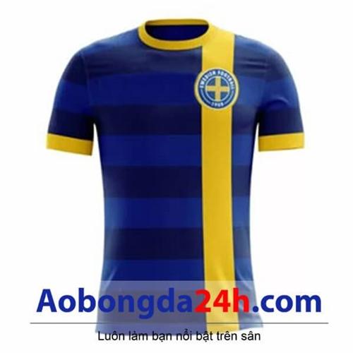 Áo bóng đá Thụy Điển 2019 mẫu mới màu xanh