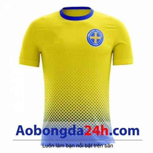 Áo đấu Thụy Điển 2018 - 2019 mẫu mới màu vàng