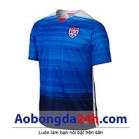 Áo bóng đá Mỹ 2015 sân khách màu xanh