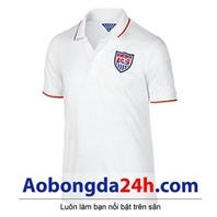 Áo đá bóng đội tuyển Mỹ World Cup 2014 màu trắng