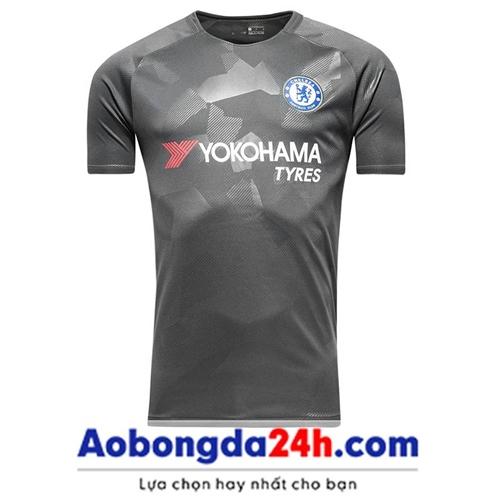 Áo đá bóng Chelsea 2017-2018 mẫu thứ 3 màu xám
