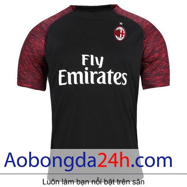 Áo bóng đá Ac Milan 2018-2019 mẫu thứ 3 - màu đen - mặt trước-2