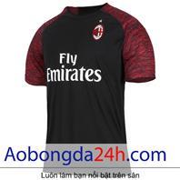 Áo bóng đá Ac Milan 2018-2019 mẫu thứ 3 màu đen
