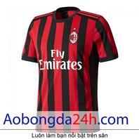 Áo bóng đá Ac Milan 2017-2018 sân nhà sọc đỏ đen