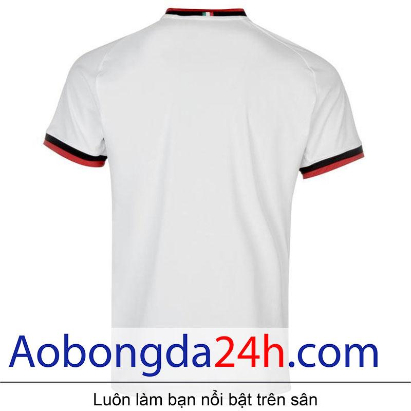 áo bóng đá thi đấu CLB Ac Milan 2017/18 màu trắng-sau lưng