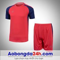Áo bóng đá không logo Aither mẫu 01 màu đỏ