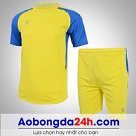 Áo bóng đá không logo Aither mẫu 03 màu vàng