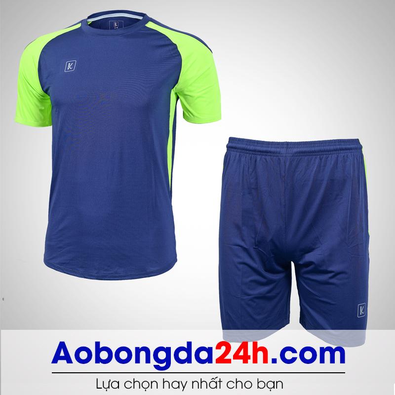 Áo bóng đá không logo Aither mẫu 04 màu xanh tím than