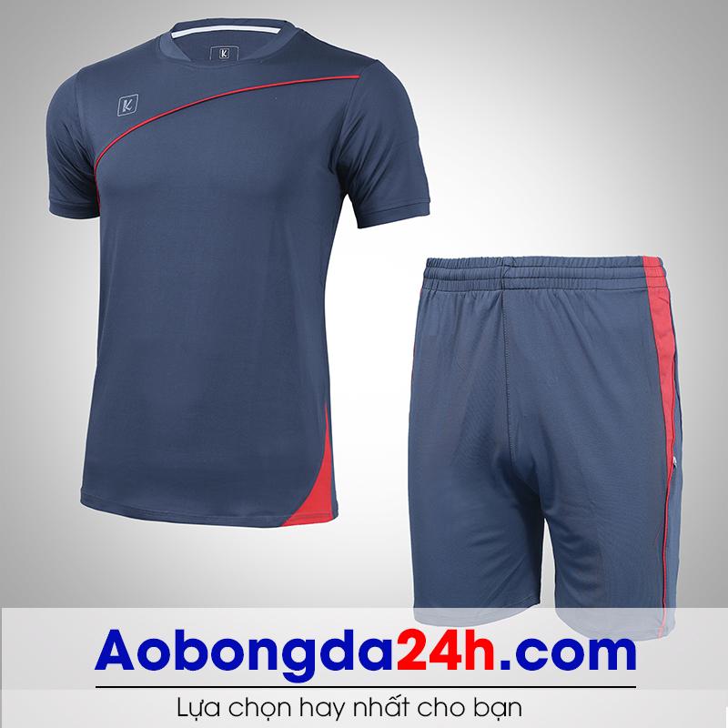 Áo bóng đá không logo Hyperion mẫu 02 màu xám