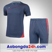 Áo bóng đá không logo Hyperion mẫu 02 xanh tím than