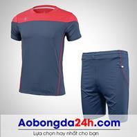 Áo bóng đá không logo Hyperion mẫu 05 đỏ xám