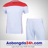 Áo bóng đá không logo Hyperion mẫu 07 màu trắng