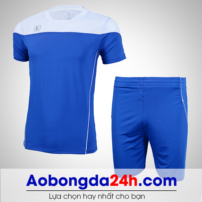 Áo bóng đá không logo Hyperion mẫu 06 xanh nước biển