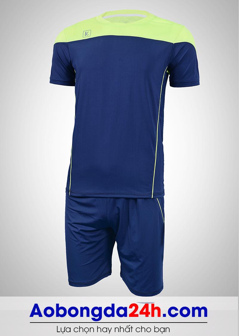 Áo bóng đá không logo Hyperion mẫu 01 xanh tím than