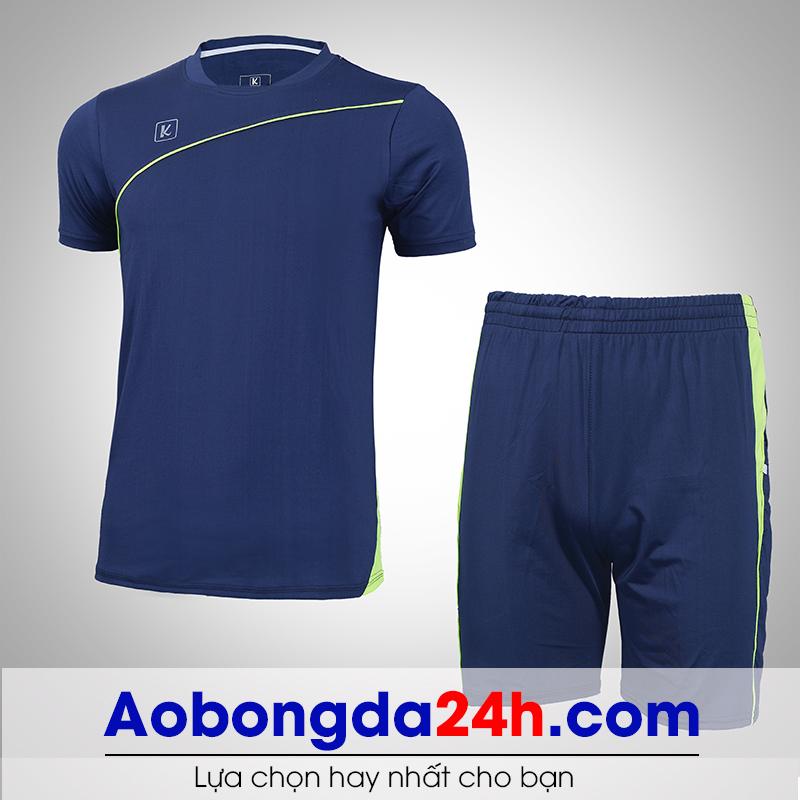 Áo bóng đá không logo Hyperion mẫu 12 xanh tím than