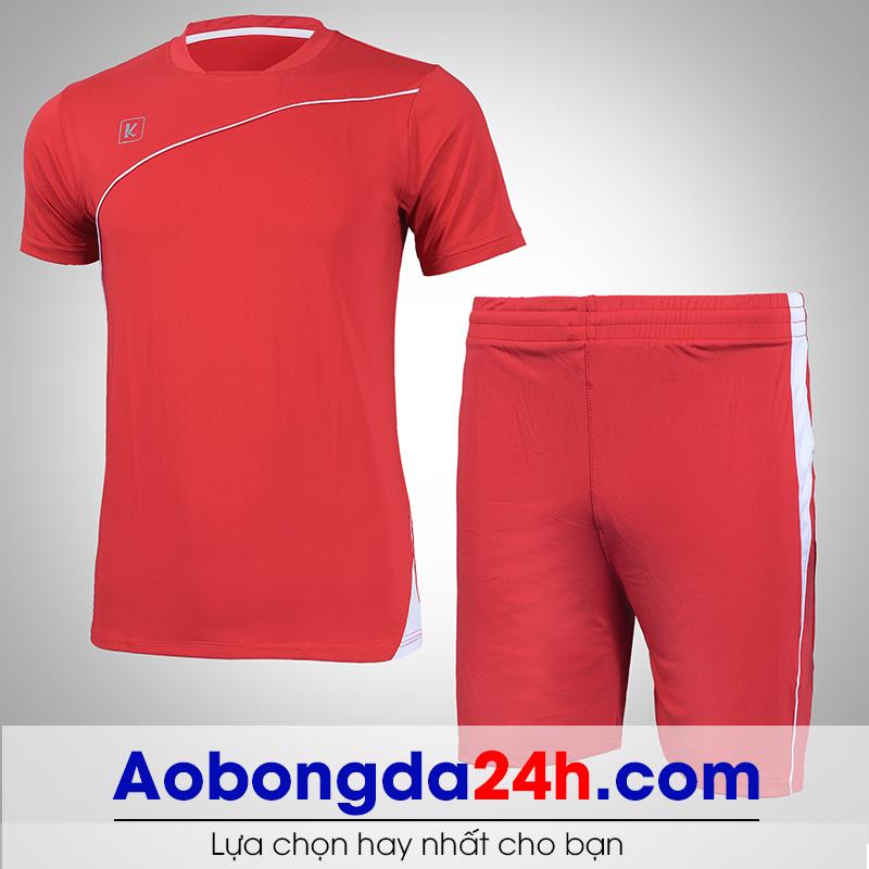 Áo bóng đá không logo Hyperion mẫu 03 màu đỏ
