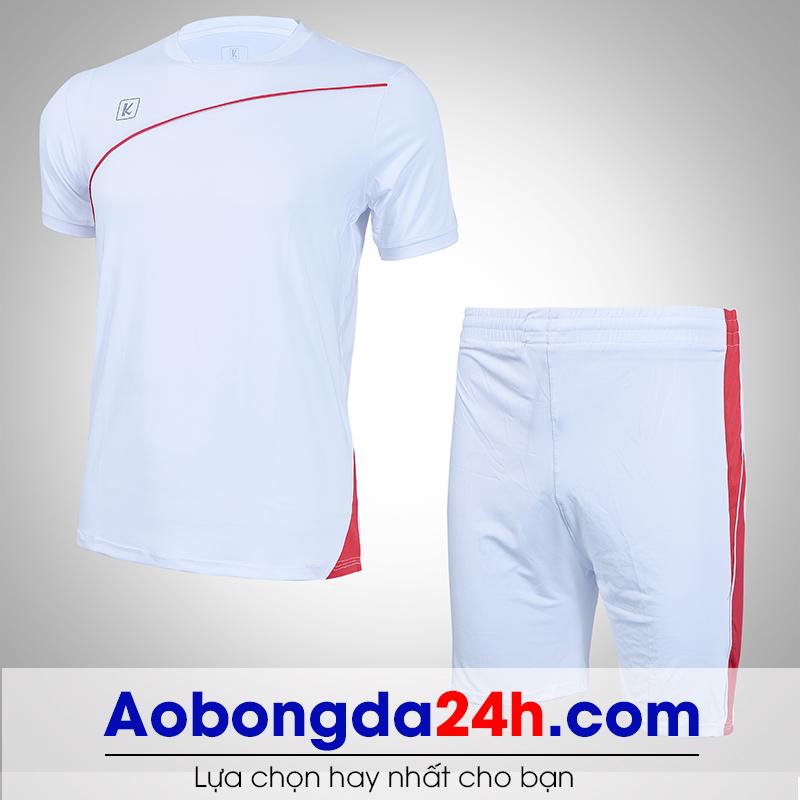 Áo bóng đá không logo Hyperion mẫu 04 màu trắng