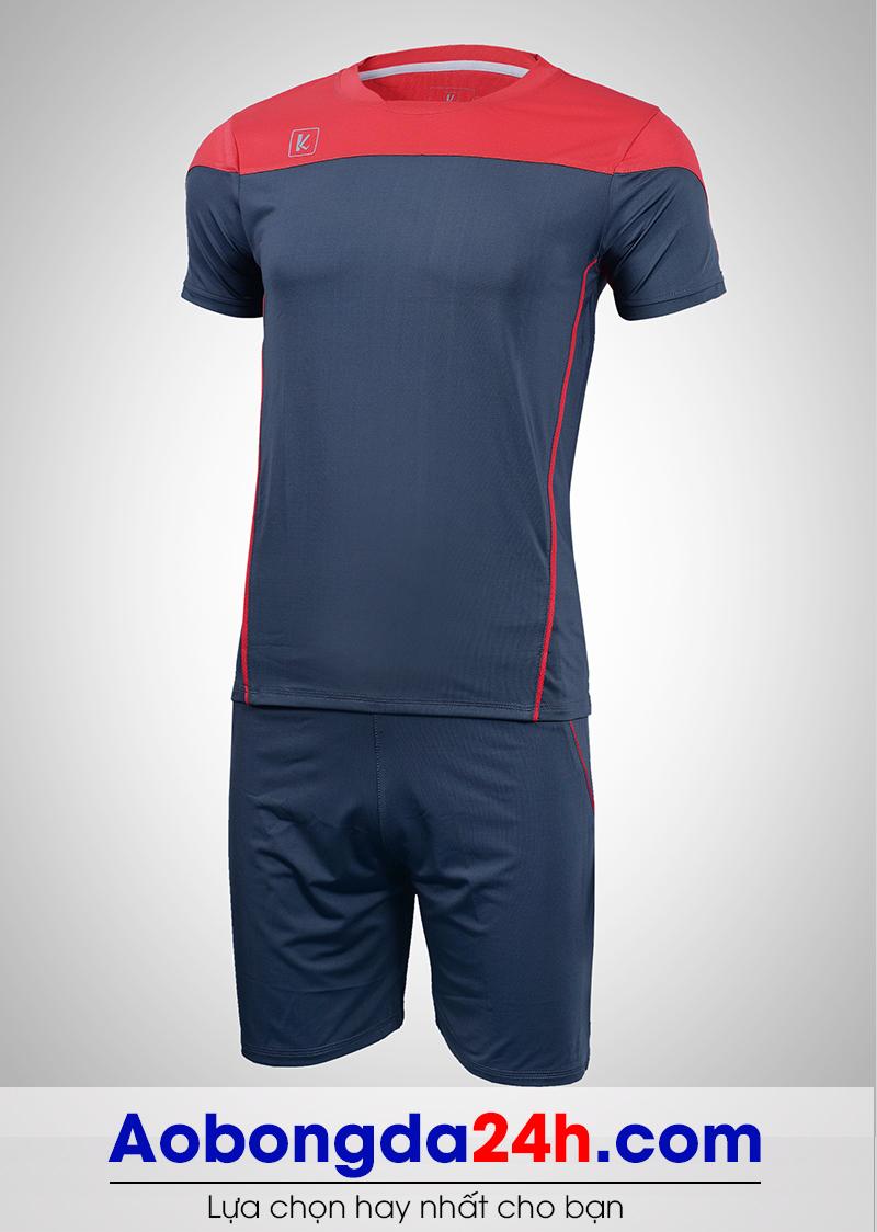 Áo bóng đá không logo Hyperion mẫu 05 xanh tím than