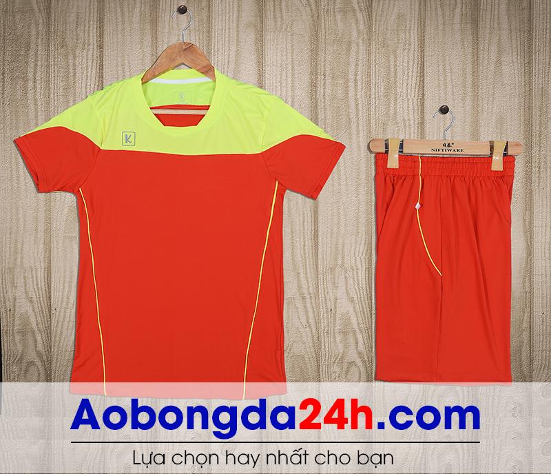 Áo bóng đá không logo Hyperion mẫu 08 màu cam