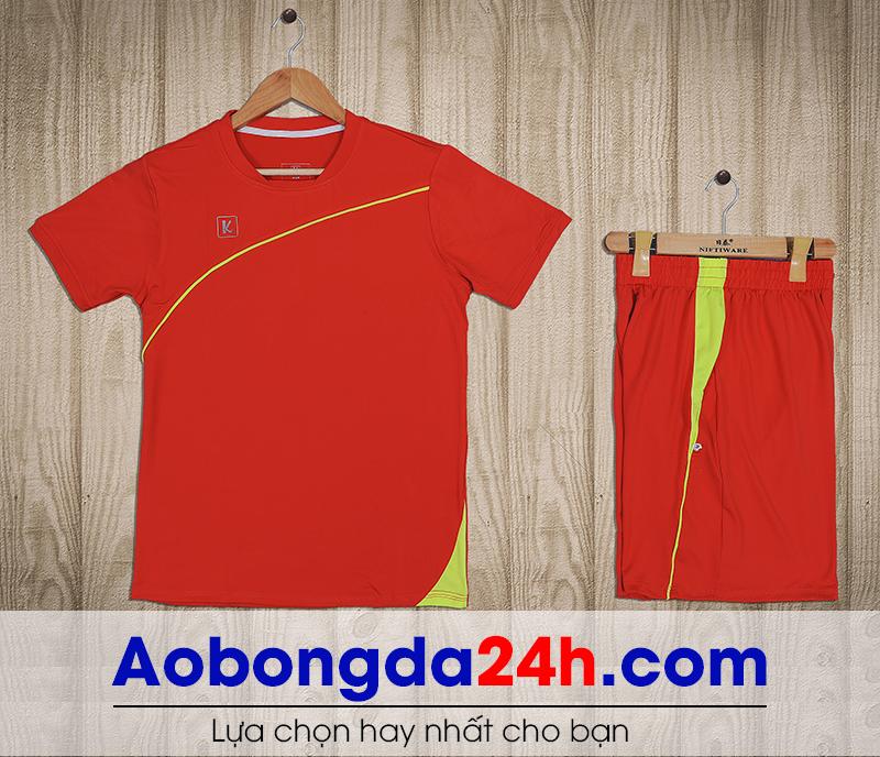 Áo bóng đá không logo Hyperion mẫu 09 màu đỏ