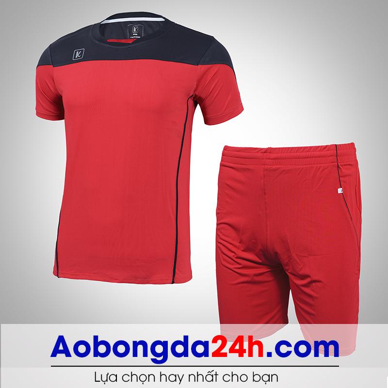 Áo bóng đá không logo Hyperion mẫu 10 màu đỏ