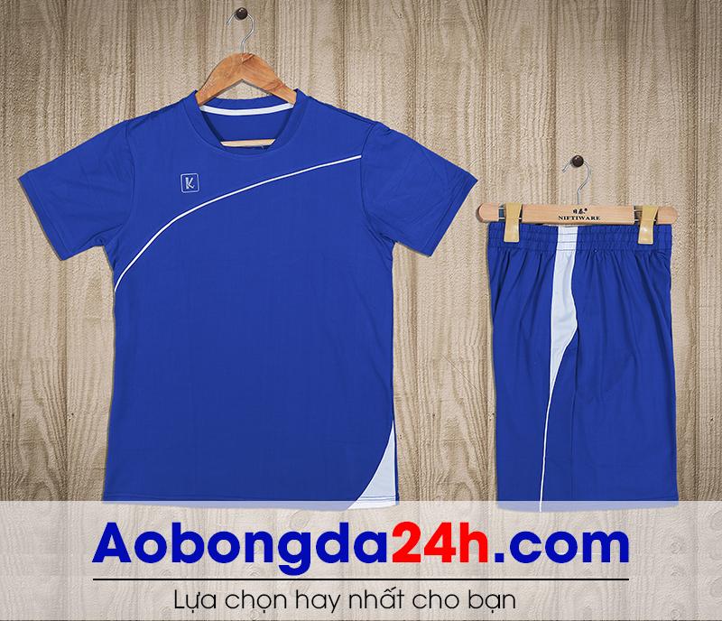 Áo bóng đá không logo Hyperion mẫu 11 màu xanh nước biển