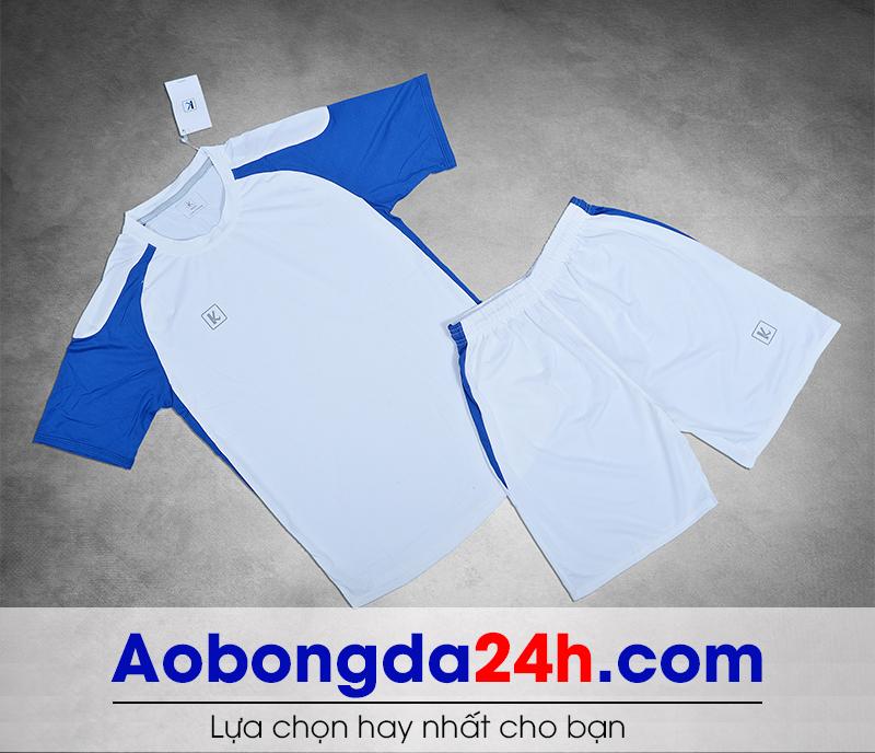 Áo bóng đá không logo Aither mẫu 02 màu trắng