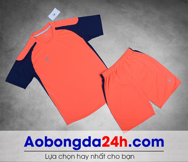 Áo bóng đá không logo Aither mẫu 05 màu cam