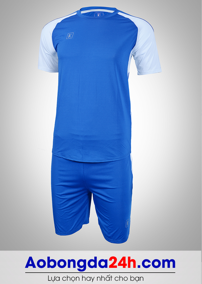 Áo bóng đá không logo Aither mẫu 07 màu xanh nước biển