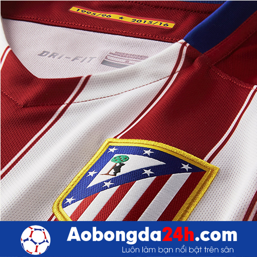 Áo câu lạc bộ Atlentico Madrid 2015-2016 Sân nhà đỏ