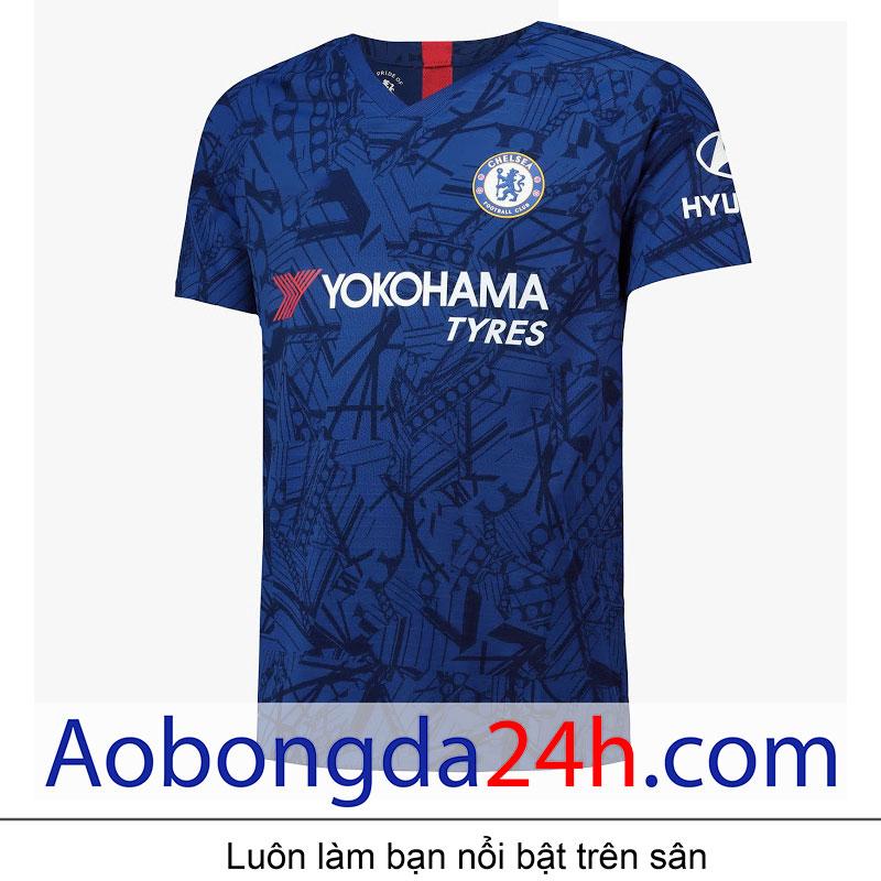 áo đấu Chelsea 2019 2020 Sân Nhà Màu Xanh áo Bóng đá 24h
