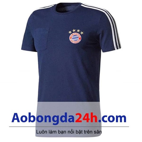 Áo CLB Bayern Munich Training 2017-2018 xanh tím than