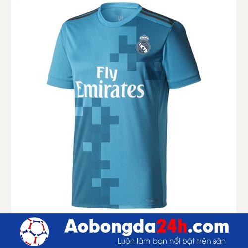 Áo đá banh Real Madrid 2017-2018 mẫu thứ 3 xanh dương