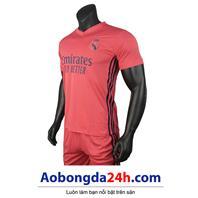 Áo Real 2020-2021 sân khách màu hồng