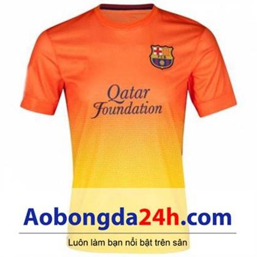 Áo đá bóng Barca 2012-2013 sân khách cam mới nhất