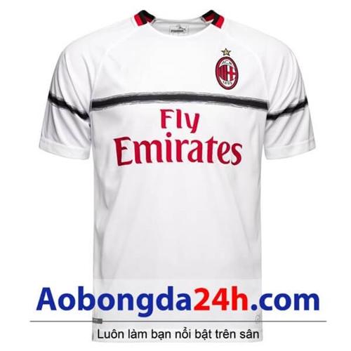 Áo đấu Ac Milan 2018-2019 sân khách màu trắng