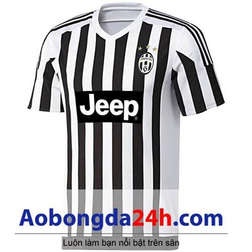 Áo đấu sân khách Juventus 2015-2016 sọc đen