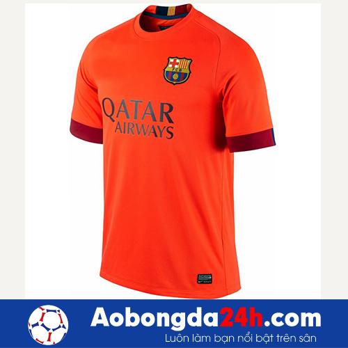Áo đấu Barcelona 2014-2015 sân khách màu cam