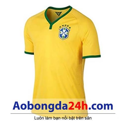 Áo bóng đá Brazil 2014-2015 sân nhà màu vàng