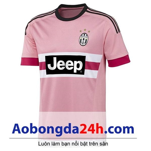 Áo đấu Juventus 2015-2016 sân nhà màu hồng